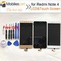 Pantalla lcd para xiaomi redmi note 4 nueva accesorios de reemplazo lcd + pantalla táctil para xiaomi redmi note 4 pro primer