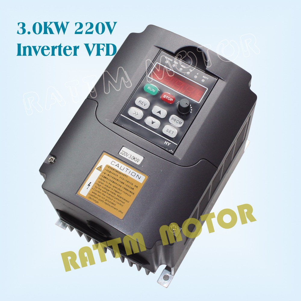 (EU Ship & No Tax to EU Customer)  220V 3KW Variable Frequency Drive VFD Inverter 4HP output 3 Phase 13A