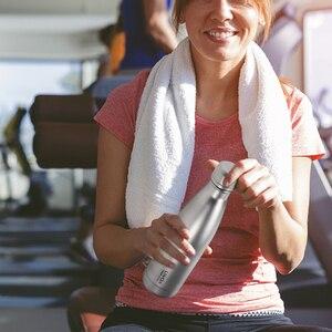 Image 4 - Lixada 500ml Titan Wasser Flasche Doppelwandige Vakuum Isolierte Sport Wasser Flasche Camping Wandern Radfahren Outdoot Geschirr