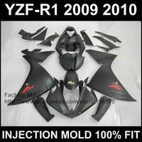 7gifts+Custom Injection motor fairings kit for YAMAHA 2009 2010 2011 YZFR1 09 10 11 full flat black YZF R1 fairing kits