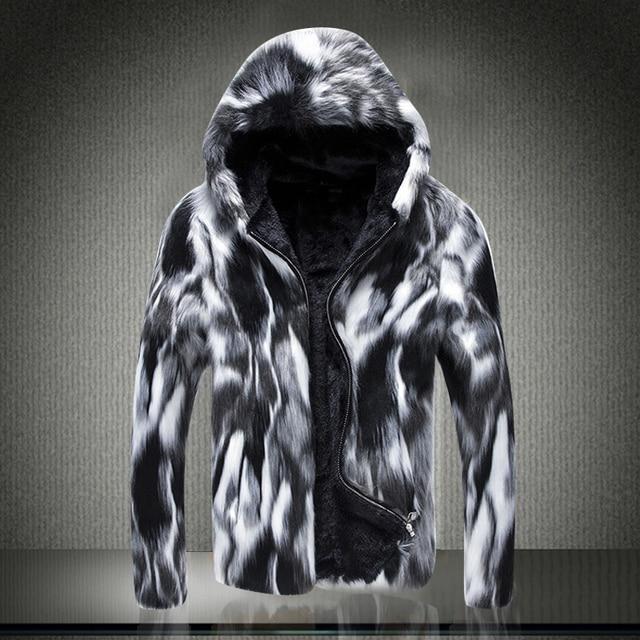 2018   Autumn and winter new male fox fur coats fur coats of men's fur coats, south Korean version    S-6XL