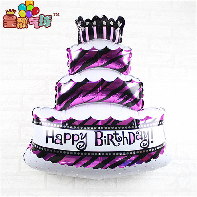70100cm Super Size Birthday Cake Foil Balloons Happy Party Decorations Baby Showers Helium