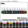 CHUSE 20 Colors JX23XS1  inks 7ml/bottle permanent makeup ink pigment supply for body art tattooing FAST SHIPPING    PMU
