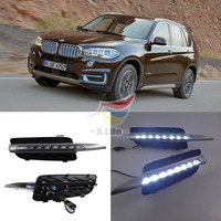 2PCS FOR BMW X5 Daytime Running Light 8LED 18W High Power For 2007 2015 BMW