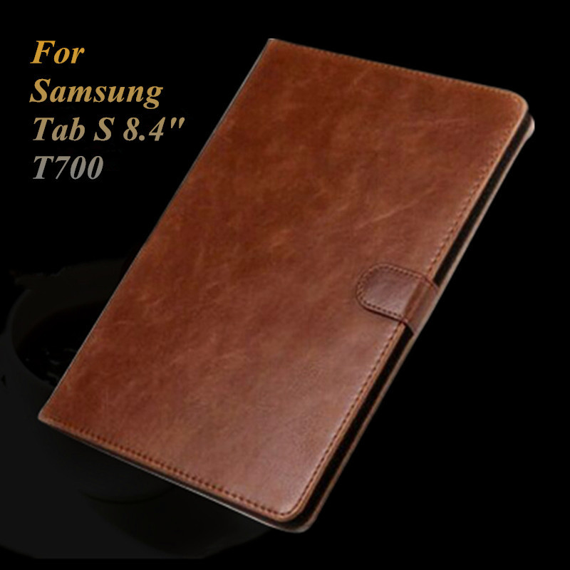 For Samsung Galaxy Tab S 8.4 T700 T705 Leather Case Smart Cover Flip Magnetic Wallet Book Cover Tablet Stand Case for SM-T700 luxury folding flip smart pu leather case book cover for samsung galaxy tab s 8 4 t700 t705 sleep wake function screen film pen