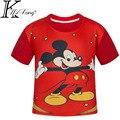 Verano de Los Niños de Dibujos Animados en 3D Rojo Mickey Mouse Niños camisetas Verano de Los Muchachos Niños de Manga Corta Camisetas Ropa de Bebé Muchachos camisetas