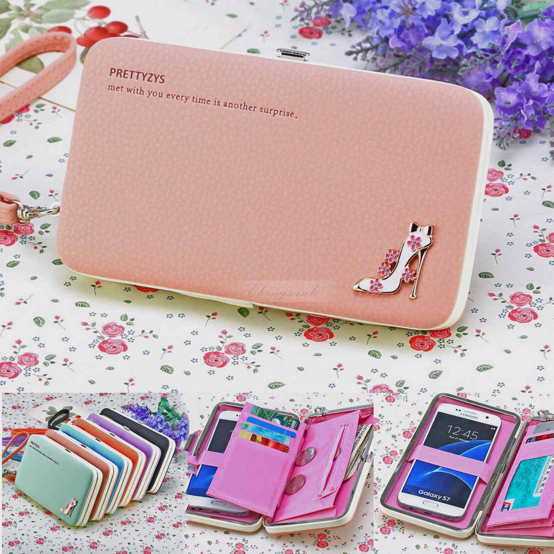 Retro Candy Handbag Purse Clutch Wallet Case Cover Bag For Samsung and iphone 7 7Plus