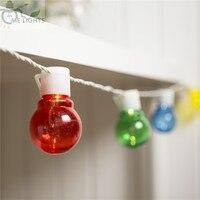 ノベルティ20カラフルなグローブ接続可能花飾りパーティーボールストリングランプledクリスマスライト妖精ウェディングガーデンホリデイ花輪