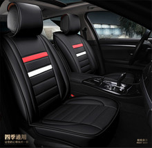 Universal Car-Styling Car Seat Covers Set Fashion PU Leather High Breathable Interior Accessories Decoration Protector