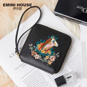 Image 3 - EMINI HOUSE Embroidery Wallet Women 2018 Purse Female Women Wallets Luxury Brand Wallets Designer Purse Wallet For Credit Cards