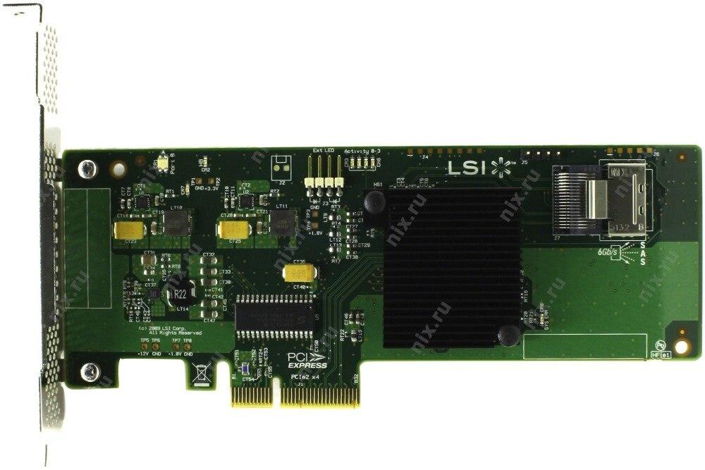 Avago Raidstorage Lsi00190 4 Portas Sff8087 Sata Jbod Raid Hba 6 gb Pci-e 2.0×4 Controlador Cartão Lsi Sas 9211-4i