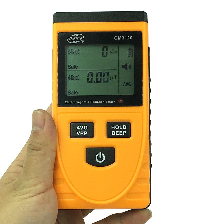 GM3120 Electromagnetic Radiation Tester Electromagnetic EMF Magnetic Electric Field MicroTesla V/m Tester Meter Detector dt 1130 emf meter for electromagnetic radiation detector 50hz 2000mhz