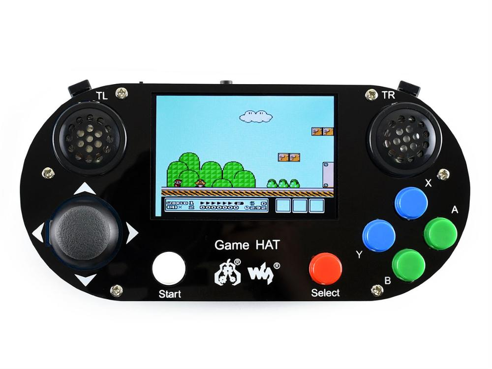 Image 3 - Game Console/Game Hat for Raspberry Pi A+/B+/2B/3B/3B+,3.5inch IPS screen,480*320 pixel .60 frame ,Onboard speaker,earphone jack-in Demo Board from Computer & Office