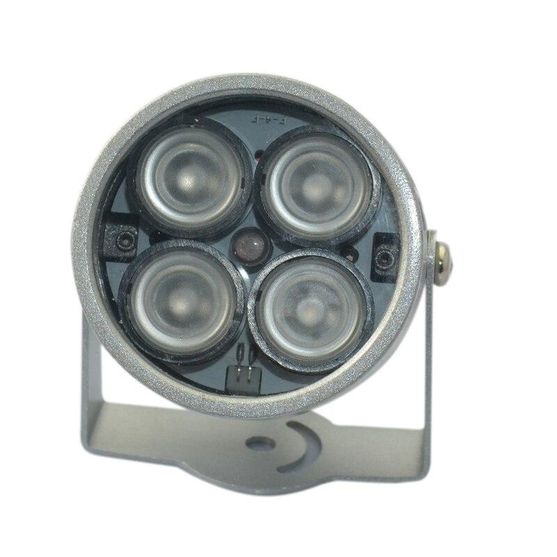 все цены на 1pcs 4 high power LED illuminator ir Light CCTV IR Infrared Night Vision For Surveillance Camera wifi camera онлайн