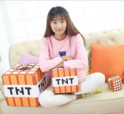 1Piece 2016 hot 10cm font b Minecraft b font Plush Toys Cotton Stuffed TNT Key Chain