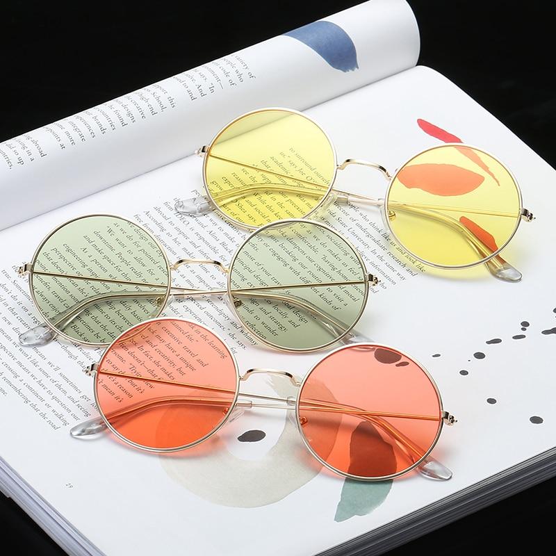 Для женщин круглый Новинка солнцезащитные очки для женщин Новинка 2018 года хип хоп стиль Цвет Оптические стёкла ретро очки летн купить на AliExpress