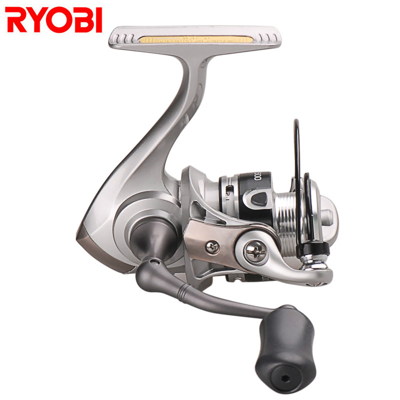 Ryobi 500 800 Spinning Reel 5.2:1 3+1BB Metal Spool Fishing Reel Saltwater Molinete Para Pesca Carretilhas De Pescaria Carp Coil tsurinoya fs3000 spinning reel 9 1bb 5 2 1 bevel metal spool lure reel max drag 7kg molinete para pesca for saltwater fishing