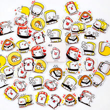 7a3196b30 Creative Lovely funny eat sushi together Decorative Stationery Stickers set  Scrapbooking DIY Diary Album Stick Label