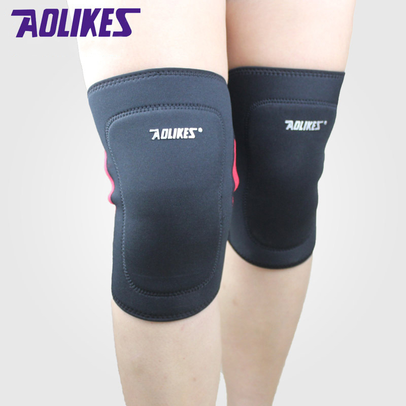 1 pair elastic knee <font><b>pads</b></font> <font><b>for</b></font> basketball volleyball fitness sport support joelheira kneepads rodilleras brace