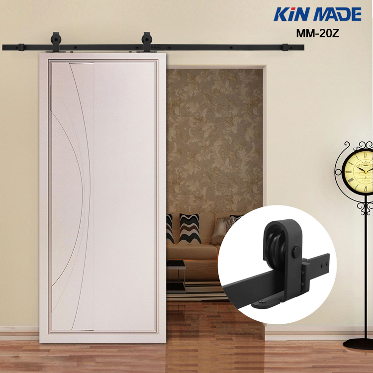 KIN MADE MM20Z-American Style Top Mounted Sliding Barn Door Hardware Wooden Door Fittings