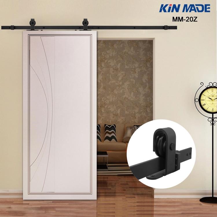 KIN MADE MM20Z-American Style Top Mounted Sliding Barn Door Hardware Wooden Door Fittings
