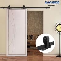 KIN MADE MM20Z American Style Top Mounted Sliding Barn Door Hardware Wooden Door Fittings