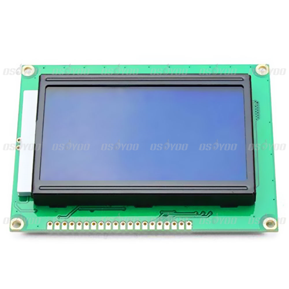 5V 12864 LCD Display Module Dots Graphic Matrix LCD Blue Backlight for Arduino