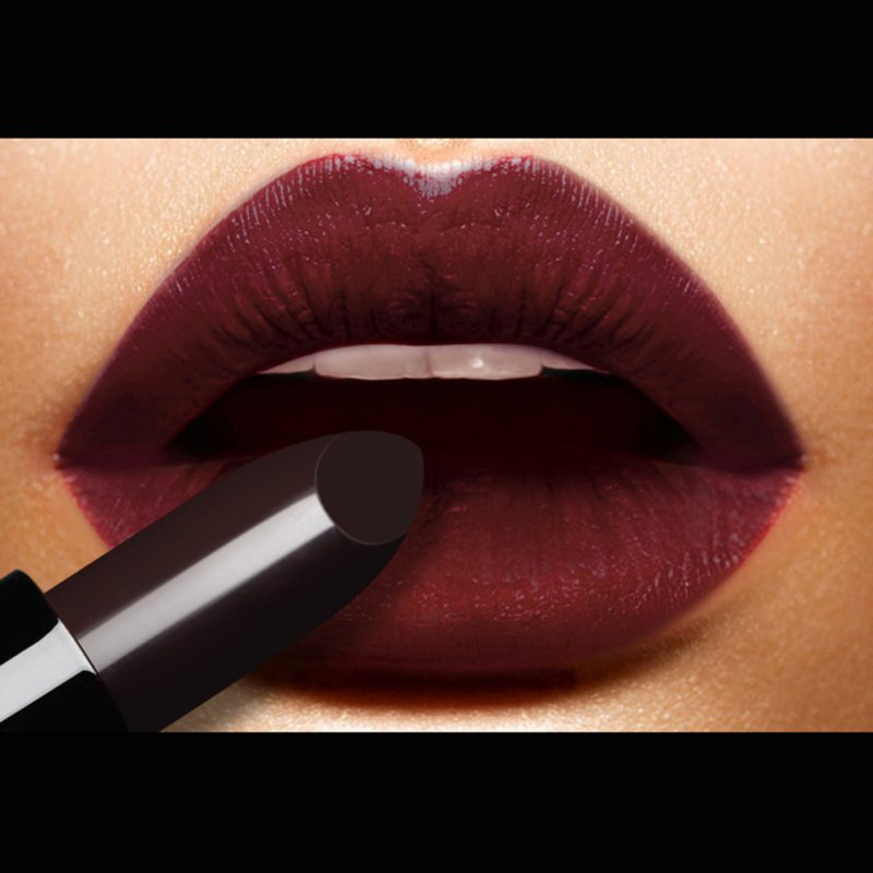 New Arrival Makeup Waterproof Long Lasting Lipstick Vampire Style Makeup Black Grape Purple Lip Gloss Magical S9