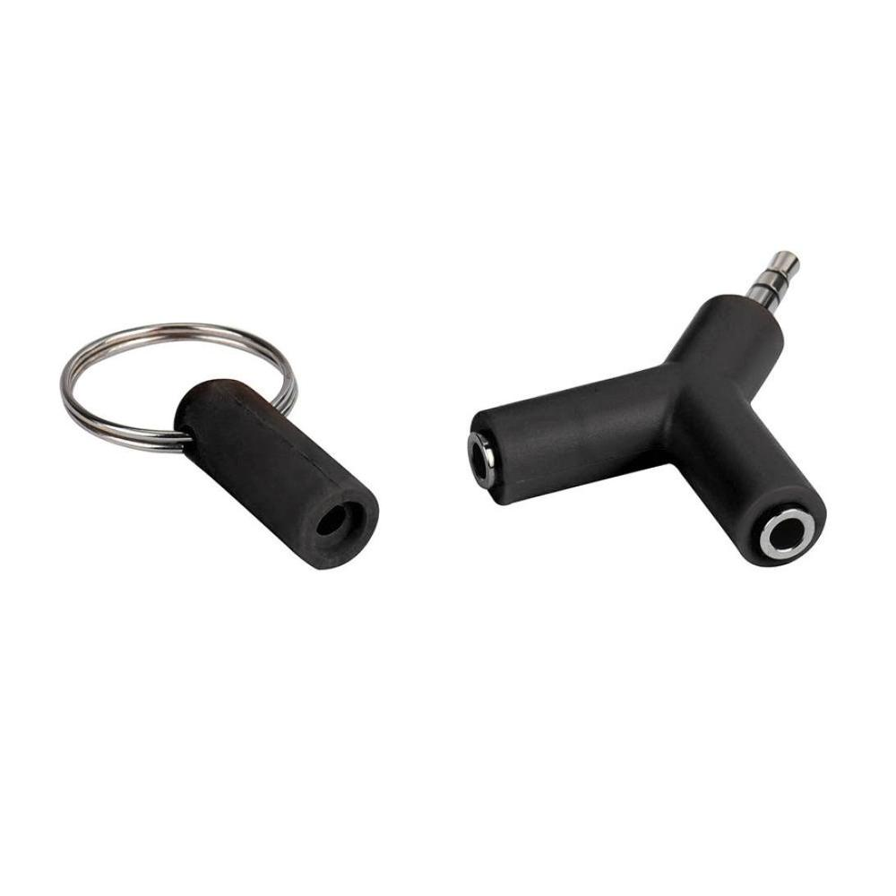 Audio Splitter Y Jack Male to 2 Female M F 3 5mm Stereo Cable Adapter For Earphone Headphones Mobile phone PC MP3 MP4 in Phone Adapters Converters from Cellphones Telecommunications