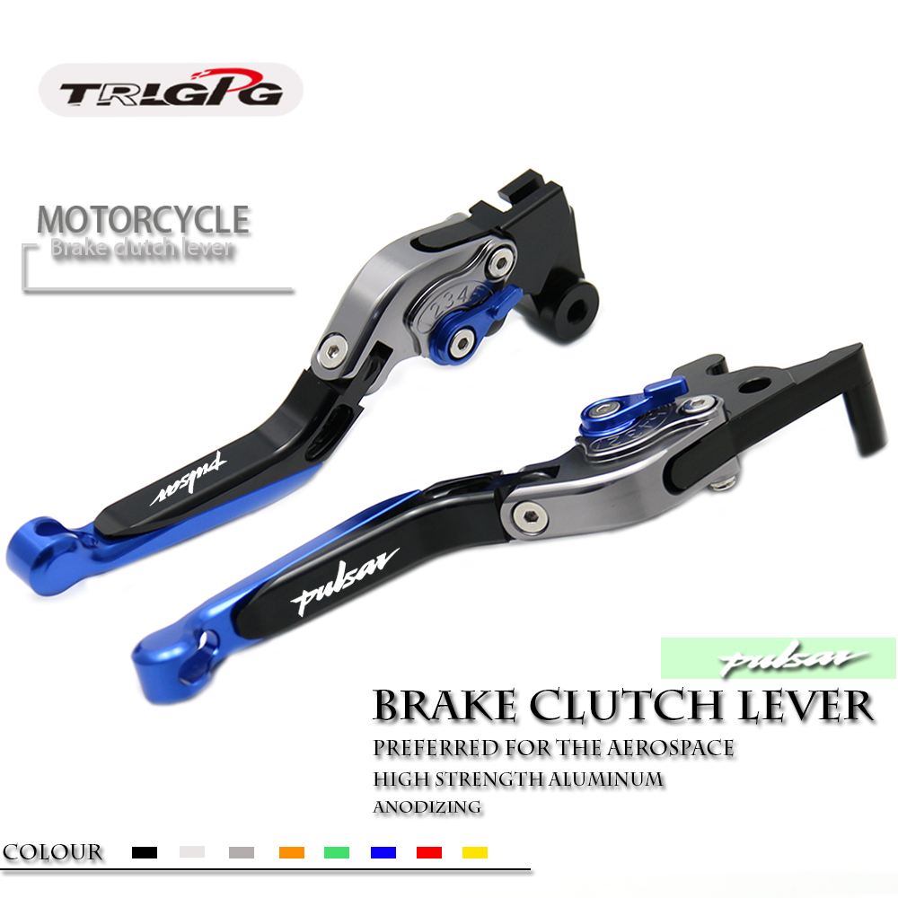 Brake Clutch <font><b>Levers</b></font> For Bajaj <font><b>Pulsar</b></font> <font><b>200</b></font> <font><b>NS</b></font>/<font><b>200</b></font> RS/<font><b>200</b></font> AS Retro <font><b>Lever</b></font> Extendable Folding <font><b>Lever</b></font> Motorcycle Accessories Adjustable image