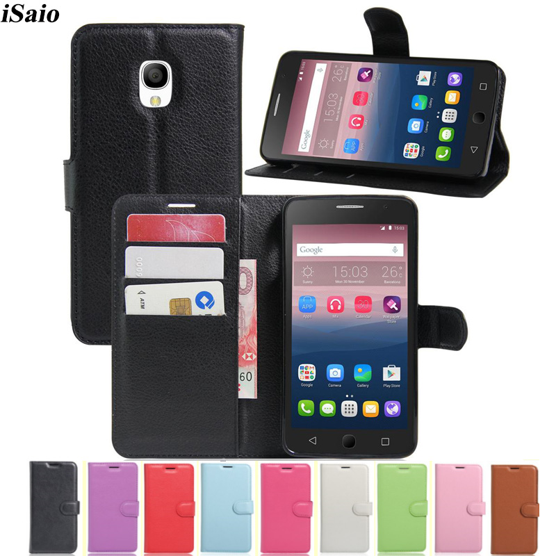 Wallet Case For Alcatel One Touch GO Play <font><b>7048X</b></font> Flip Leather Cover OneTouch GO Play <font><b>7048X</b></font> Phone Case Soft TPU Shell Card Holders image