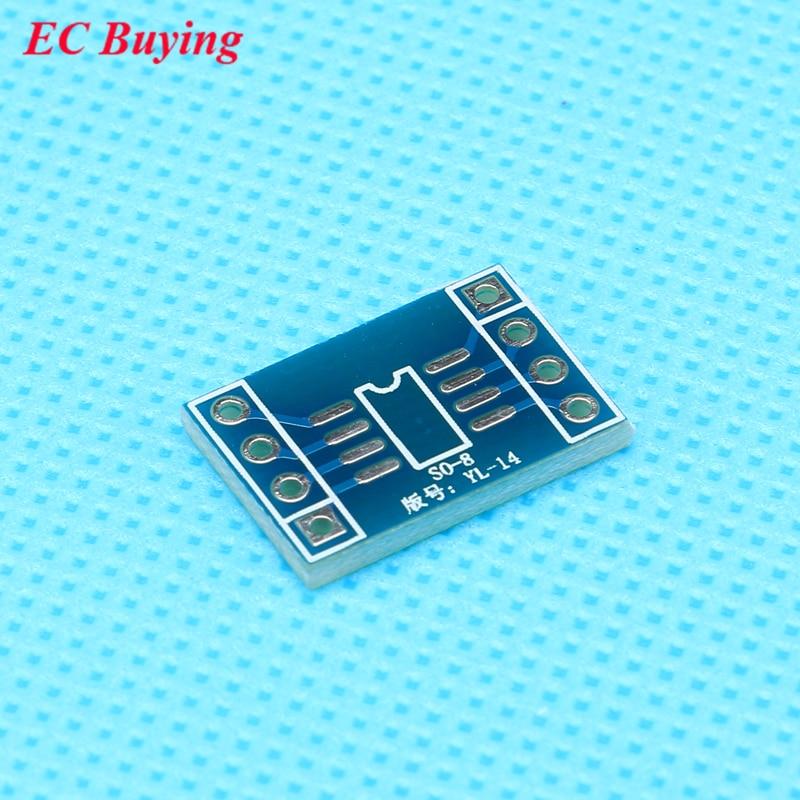50pcs SOP8 Turn DIP 8pin Spacing 2.54mm IC Adapter Socket / Adapter Plate PCB Suitable For IC Socket