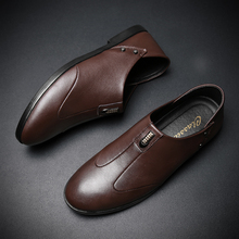 LANTI LAST Leather Shoes Men's Dress Shoes Leather Casual Summer Breathable Holes Luxury Brand Flat Shoes for Men Drop Shipping dress lanti dress page 3