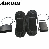 Latest AA Battery USB Port EVA Material Comfortable Heated Shoe Insoles