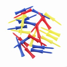 50pcs/bag size 68mm Durable Plastic Step down golf tees Colorful Castle Tees limited golf tees Height Control Plastic Tees