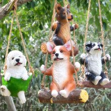 Creative Simulation Puppy Decorative Statue Resin Terrace Decoration Half Lifelike Sculpture Cute Chihuahua Dog Garden Decoratio