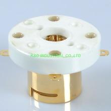 2pcs 4Pin new Ceramic Gold Plate Tube Socket top mount for FU5 845 211 805 810 VT4C  цена и фото
