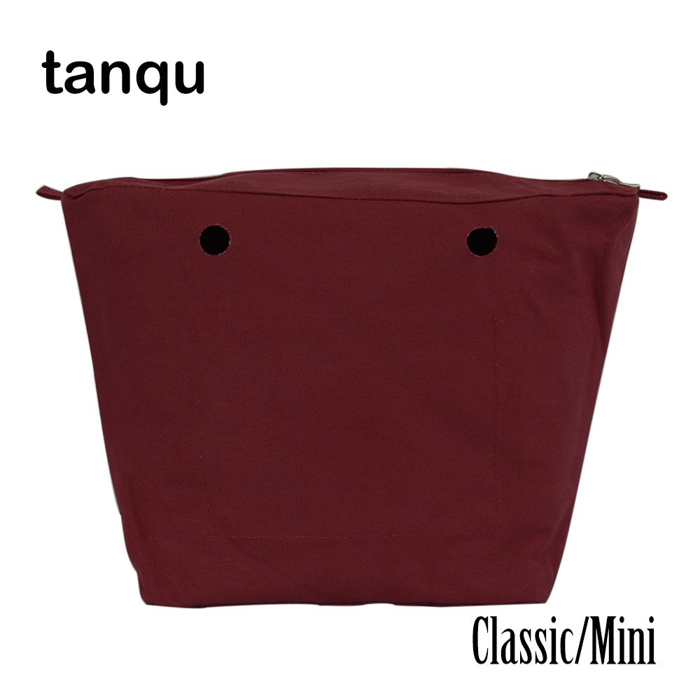 tanqu Waterproof Inner Lining Obag Insert Zipper Pocket Classic Mini Canvas Inner pocket for O Bag tanqu floral waterproof canvas fabric inner pocket lining for omoon light obag handbag insert organizer for o moon baby o bag
