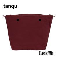 Tanqu Waterproof Inner Lining Obag Insert Zipper Pocket Classic Mini Canvas Inner Pocket For O Bag
