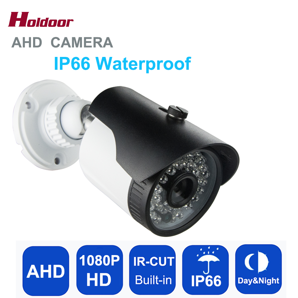 Outdoor IP66 Waterproof 1/3'' CMOS 1080P AHD Camera 2.0MP IR Night Vision Bullet Security Surveillance CCTV Camera With IR-Cut