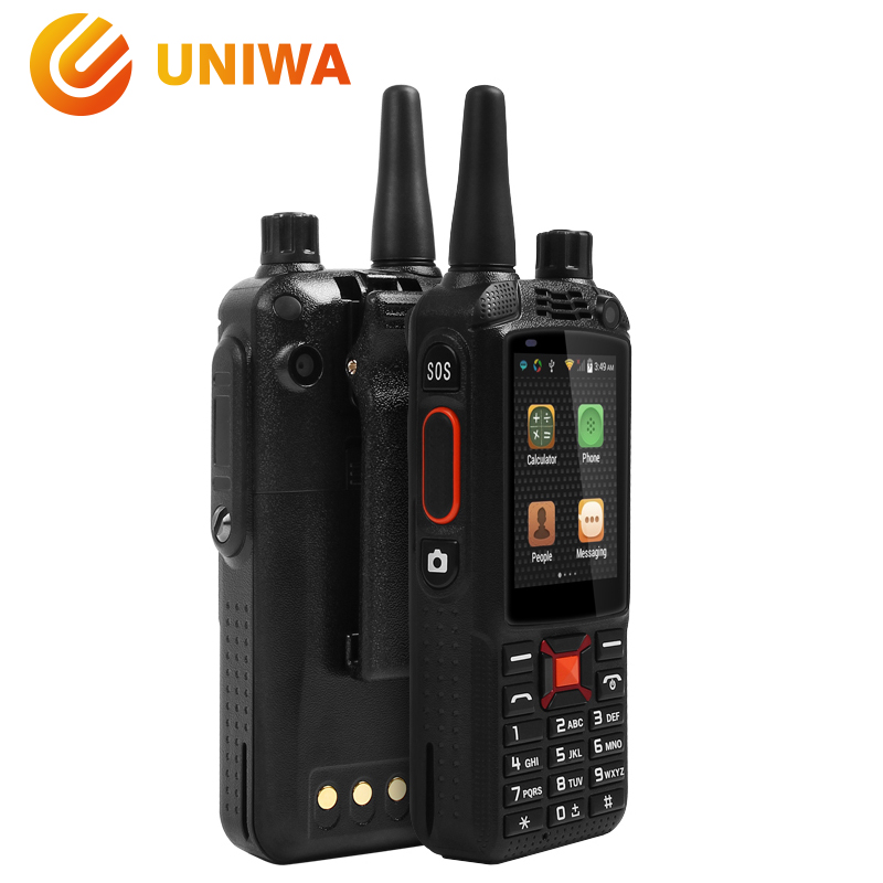 Uniwa Alps F22+ Smartphone 2.4 Touch Screen Walkie Talkie PTT Android Mobile Phone 5MP+2MP Camera Dual Sim Card Big Battery