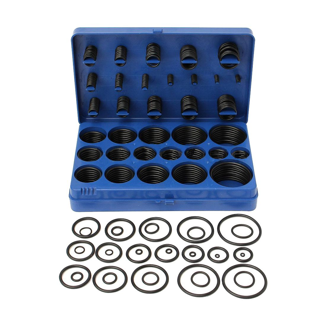 Kit 419Pcs O-Ring O-Ring Black Rubber 32 Sizes With Case 3-50mm все цены