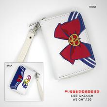 Anime PU portfel Sailor Moon portfel z zamkiem błyskawicznym portmonetka Zero portfel tanie tanio NEWPECK 13cm zipper Kieszonka na monety Wnętrza przedziału Wewnętrzna kieszeń Wnętrze slot kieszeń Uwaga przedziału