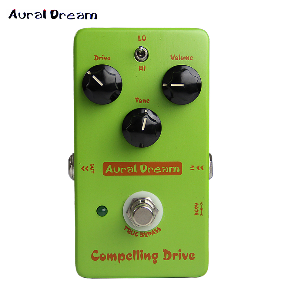 Aural Dream Compelling Drive Analogue True Bypass Overdrive Effects Pedal for Electric Guitar mooer ensemble queen bass chorus effect pedal mini guitar effects true bypass with free connector and footswitch topper