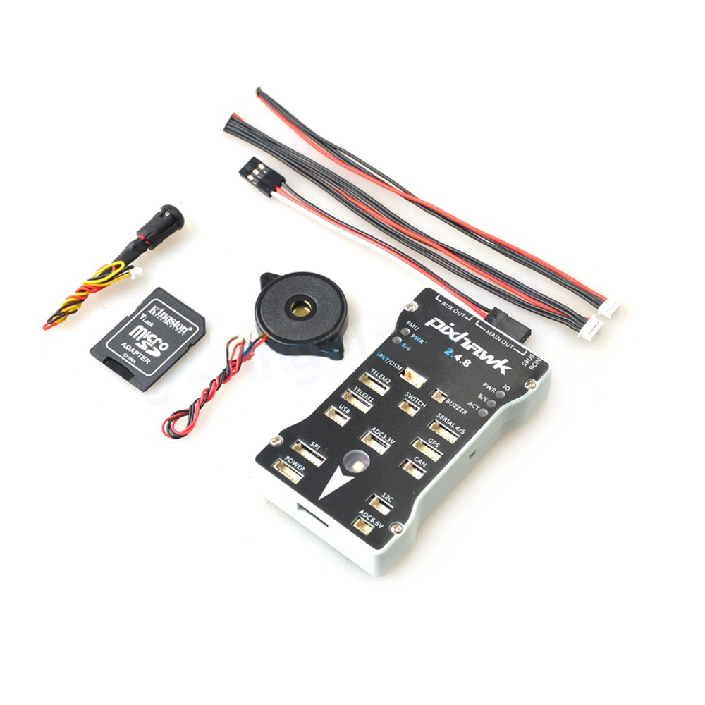 1pcs Pixhawk PX4 Autopilot PIX 2.4.8 32Bit Flight Controller w/ Safety Switch & Buzzer Case T-F Card for RC Airplane Multicopter gold plated socket pixhawk px4 autopilot pix 2 4 5 32 bit arm flight controller for rc multicopter