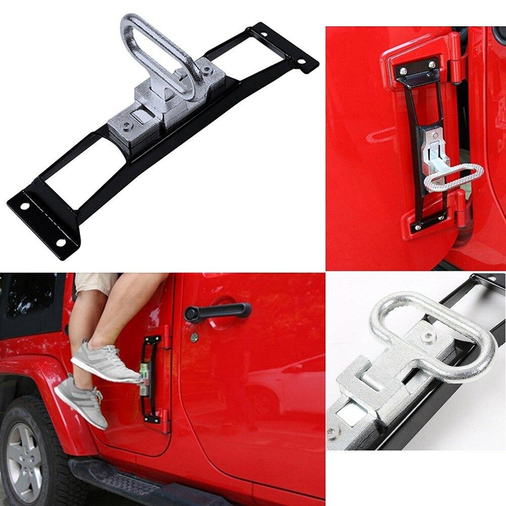 Métal pliant porte charnières pied cheville repose pédale pour Jeep Wrangler JK & illimité voiture accessoires JK Wrangler 2007-2018