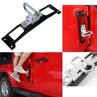 Metal Folding Door Hinges Foot Peg Rest Pedal for Jeep Wrangler JK & Unlimited Car Accessories JK Wrangler 2007 2018