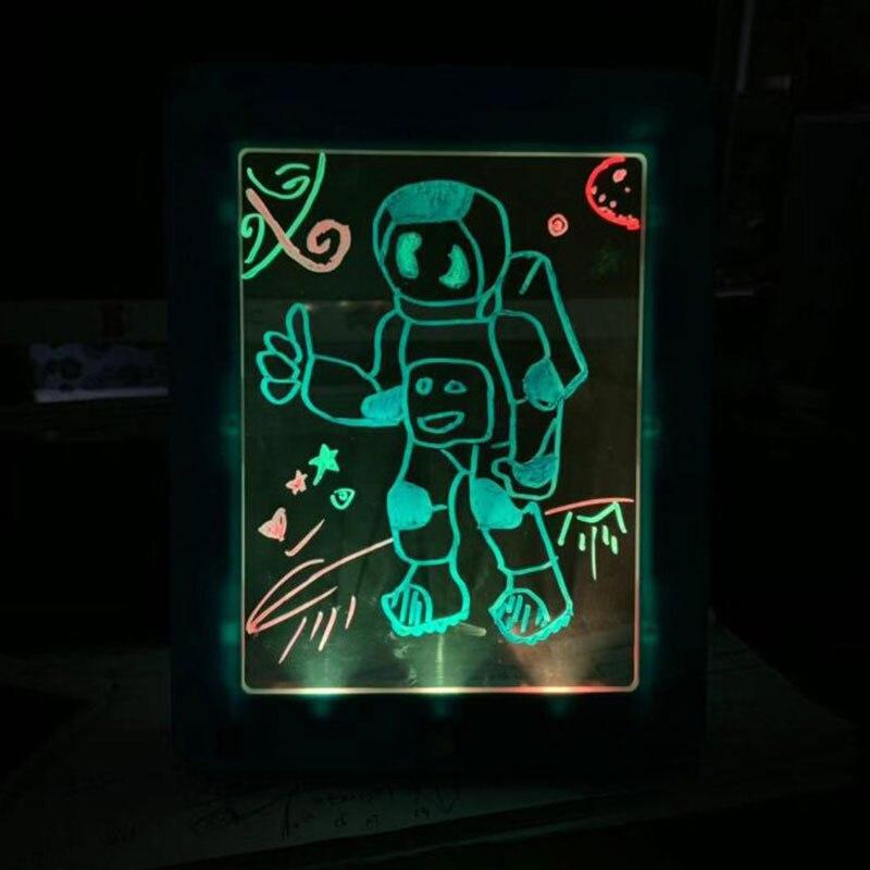 escrita para plástico criativo arte mágica placa