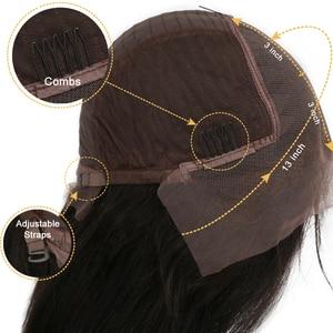 Image 3 - Shd 여성을위한 3 옹 브르 컬러 인간의 머리 가발 브라질 긴 웨이브 레미 헤어 13x6 레이스 프론트 가발 아기 머리 표백 매듭