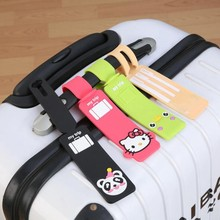 Animal Silica gel Hello Kitty Luggage Tag Women Travel Accessories Suitcase ID Addres Holder Baggage Boarding Portable Label(China)